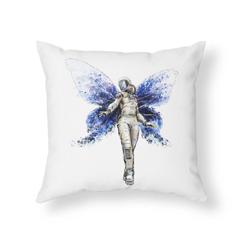 Space Butterfly Home Throw Pillow by sleepwalker's Artist Shop