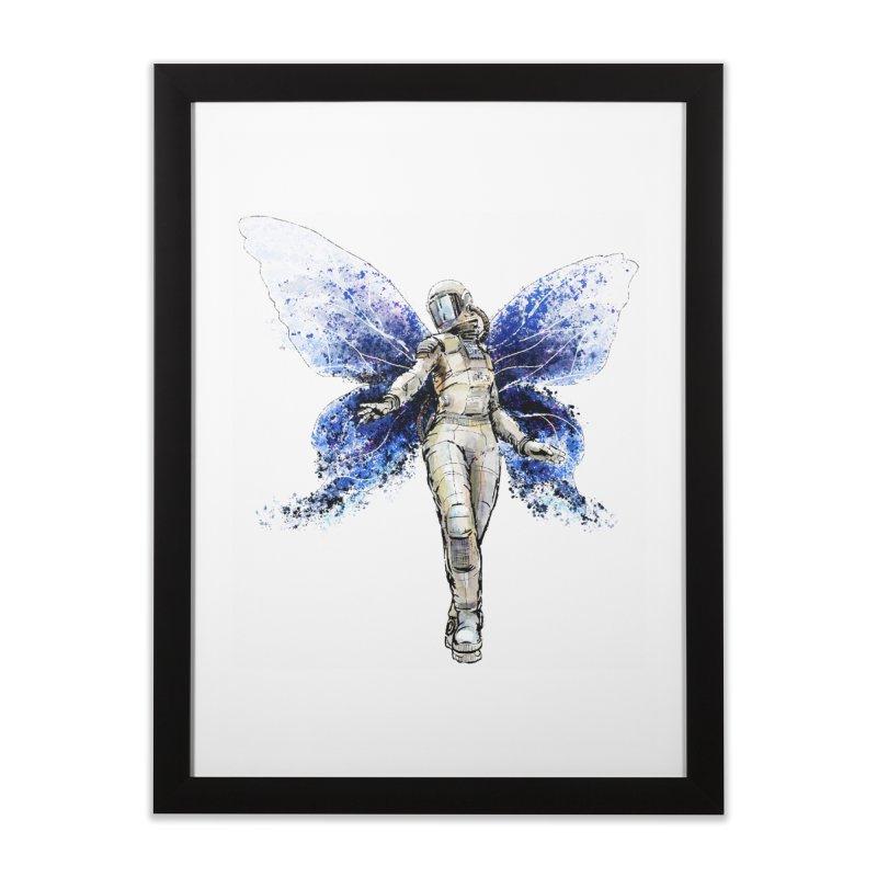 Space Butterfly Home Framed Fine Art Print by sleepwalker's Artist Shop