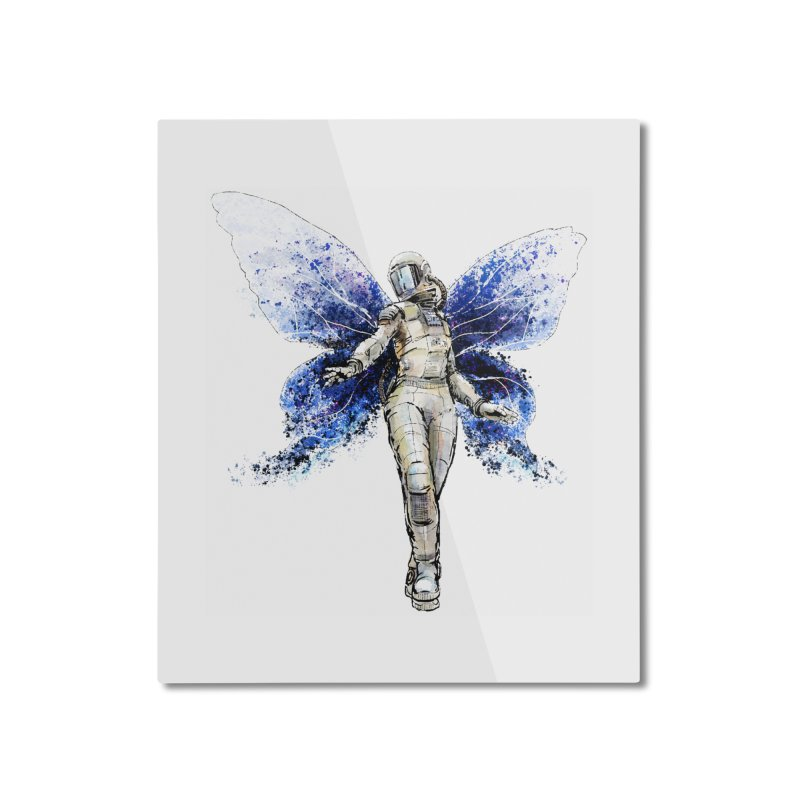Space Butterfly Home Mounted Aluminum Print by sleepwalker's Artist Shop