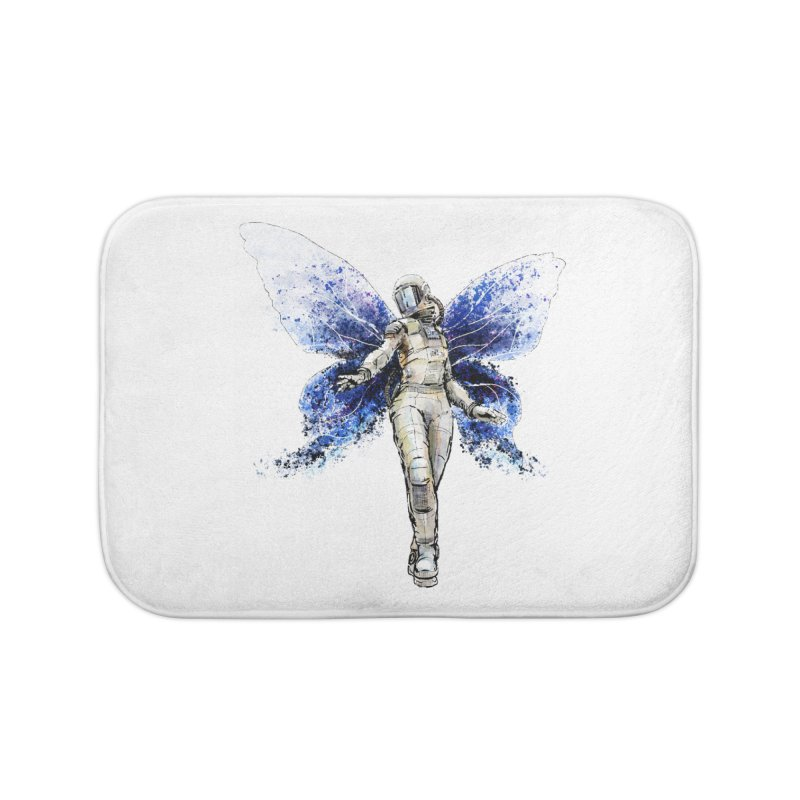 Space Butterfly Home Bath Mat by sleepwalker's Artist Shop