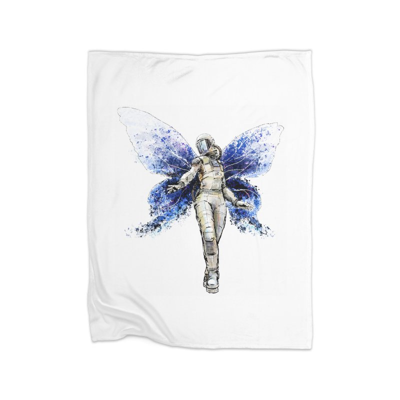 Space Butterfly Home Blanket by sleepwalker's Artist Shop