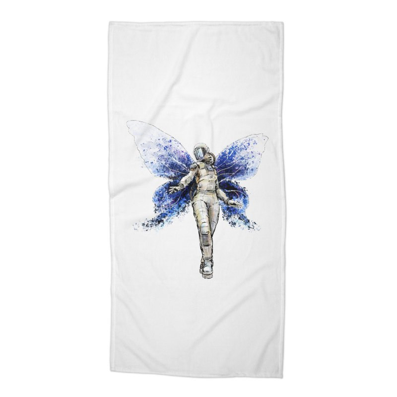 Space Butterfly Accessories Beach Towel by sleepwalker's Artist Shop
