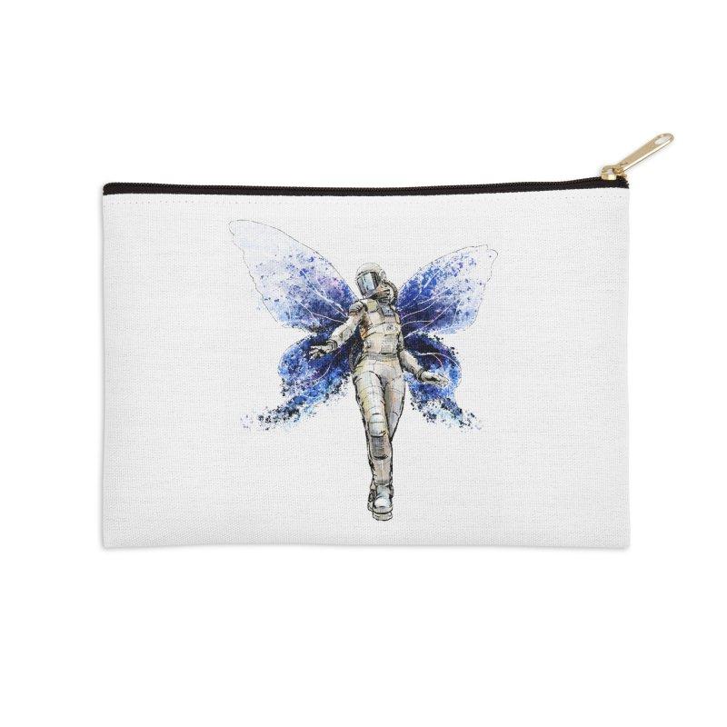 Space Butterfly Accessories Zip Pouch by sleepwalker's Artist Shop