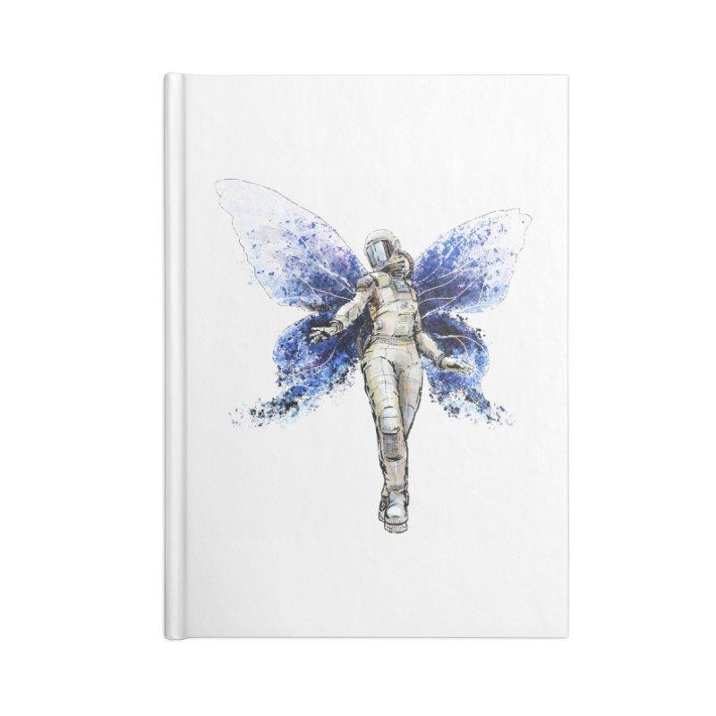Space Butterfly Accessories Blank Journal Notebook by sleepwalker's Artist Shop