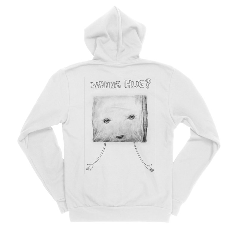 Wanna Hug? Women's Sponge Fleece Zip-Up Hoody by sleepwalker's Artist Shop