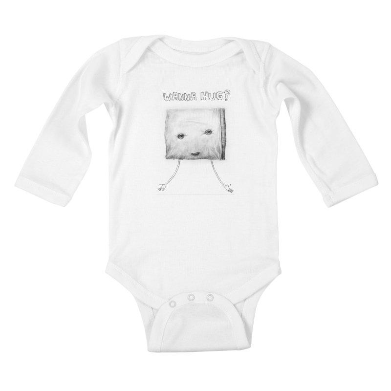 Wanna Hug? Kids Baby Longsleeve Bodysuit by sleepwalker's Artist Shop