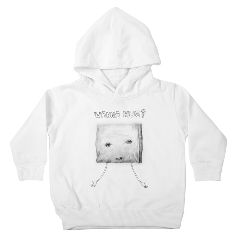 Wanna Hug? Kids Toddler Pullover Hoody by sleepwalker's Artist Shop