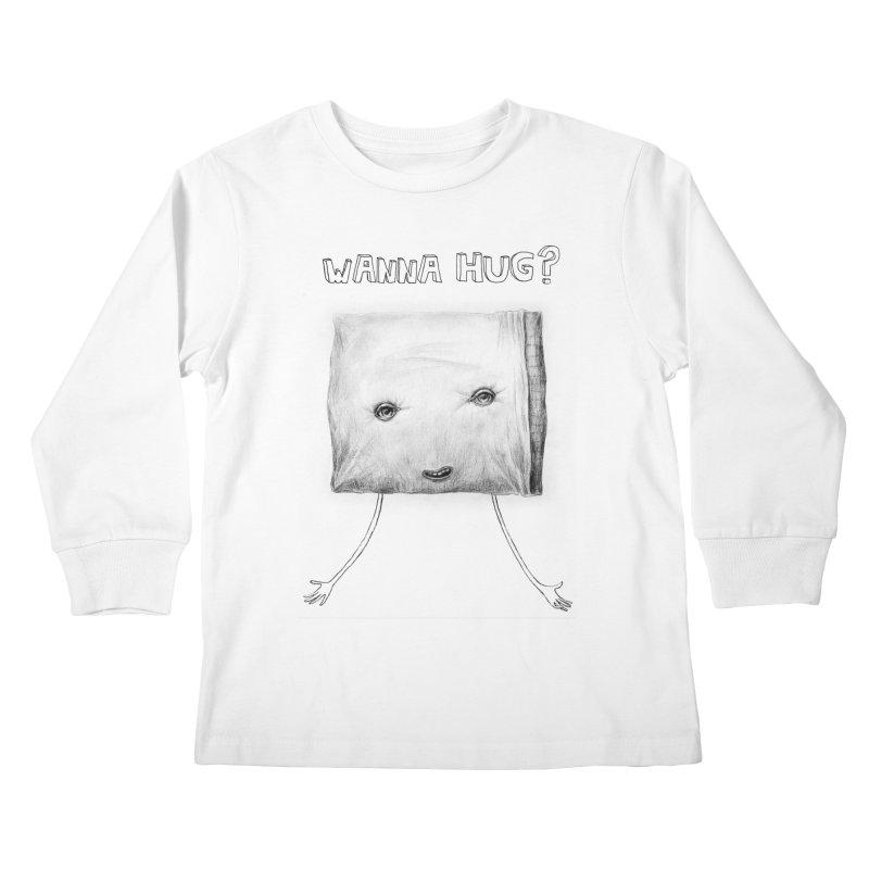 Wanna Hug? Kids Longsleeve T-Shirt by sleepwalker's Artist Shop