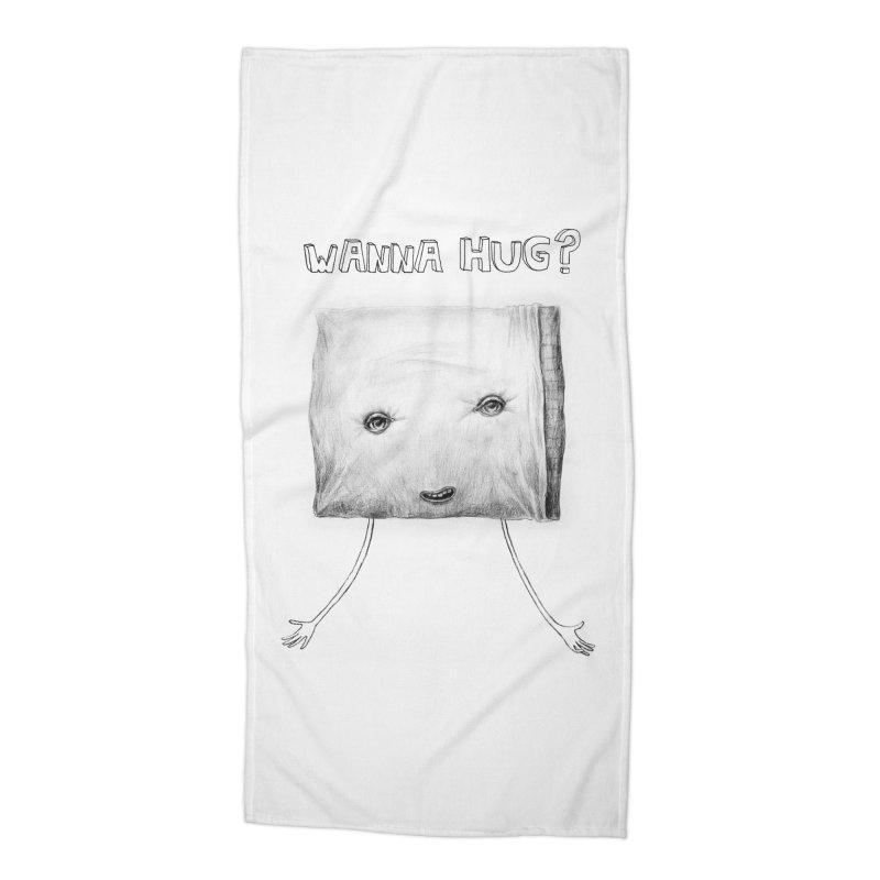 Wanna Hug? Accessories Beach Towel by sleepwalker's Artist Shop