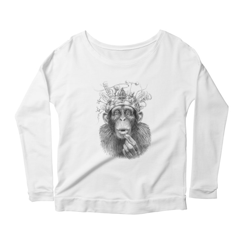 Intellect Amplifier Women's Scoop Neck Longsleeve T-Shirt by sleepwalker's Artist Shop