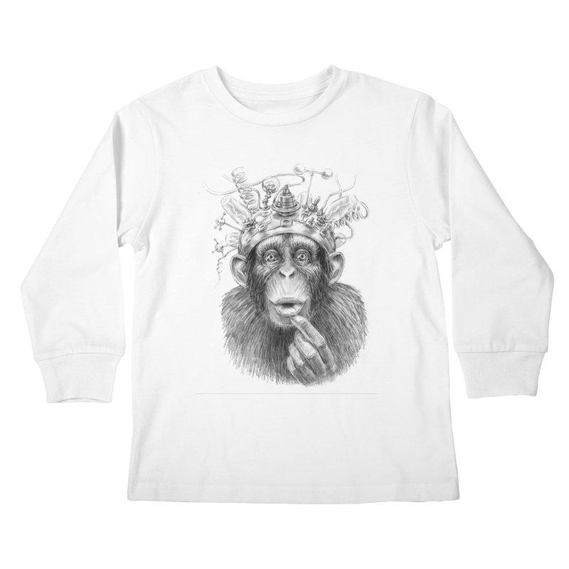 Intellect Amplifier Kids Longsleeve T-Shirt by sleepwalker's Artist Shop