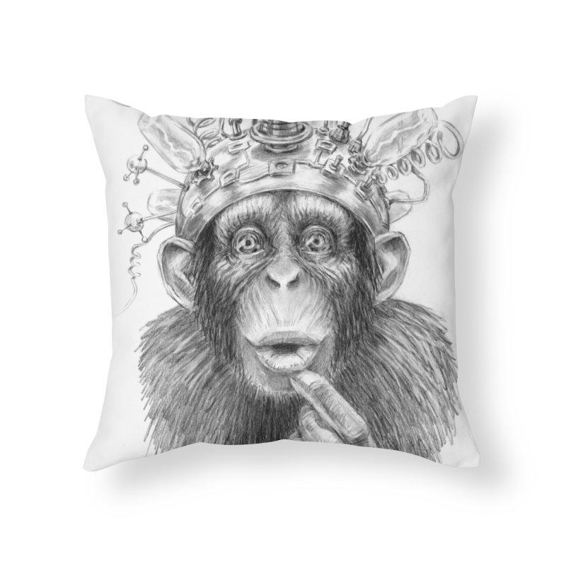Intellect Amplifier Home Throw Pillow by sleepwalker's Artist Shop