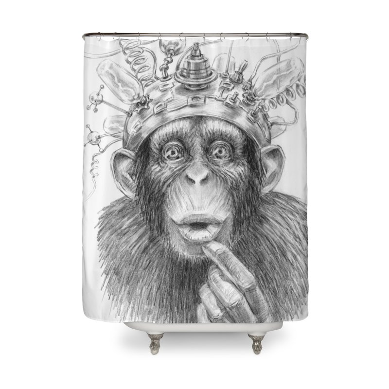 Intellect Amplifier Home Shower Curtain by sleepwalker's Artist Shop