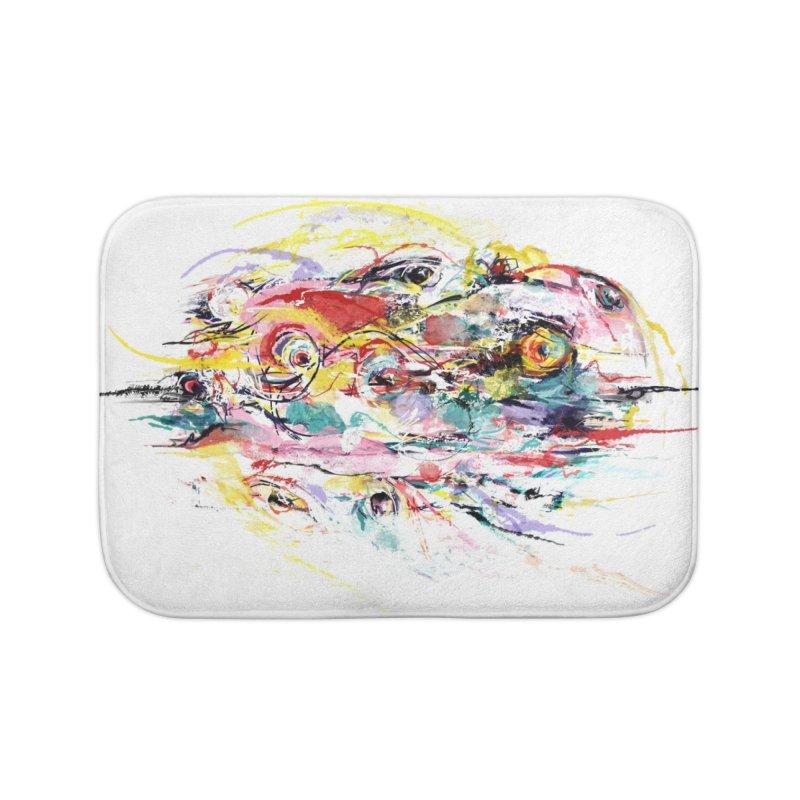Abstract eyes Home Bath Mat by sleepwalker's Artist Shop
