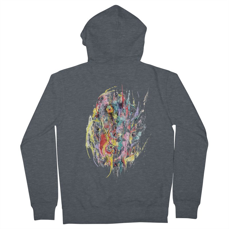 Abstract eyes Women's French Terry Zip-Up Hoody by sleepwalker's Artist Shop