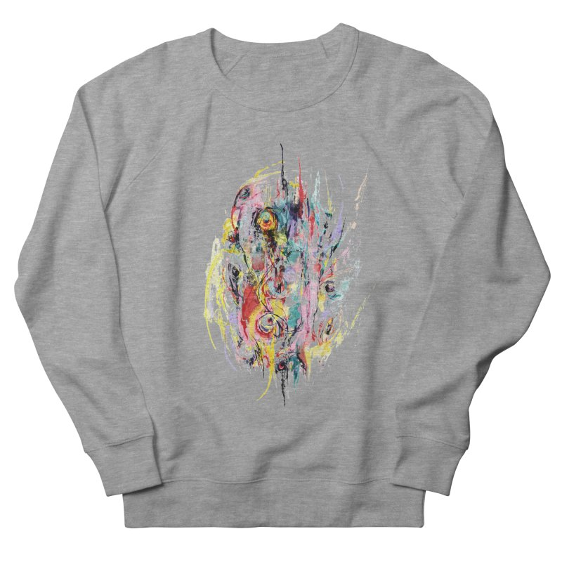 Abstract eyes Women's French Terry Sweatshirt by sleepwalker's Artist Shop