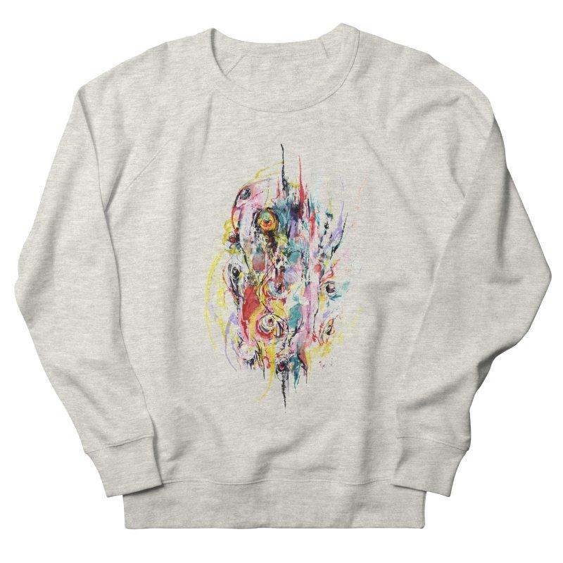 Abstract eyes Men's French Terry Sweatshirt by sleepwalker's Artist Shop