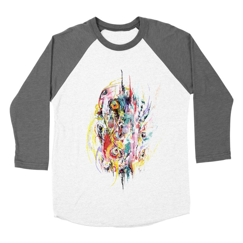 Abstract eyes Men's Baseball Triblend Longsleeve T-Shirt by sleepwalker's Artist Shop
