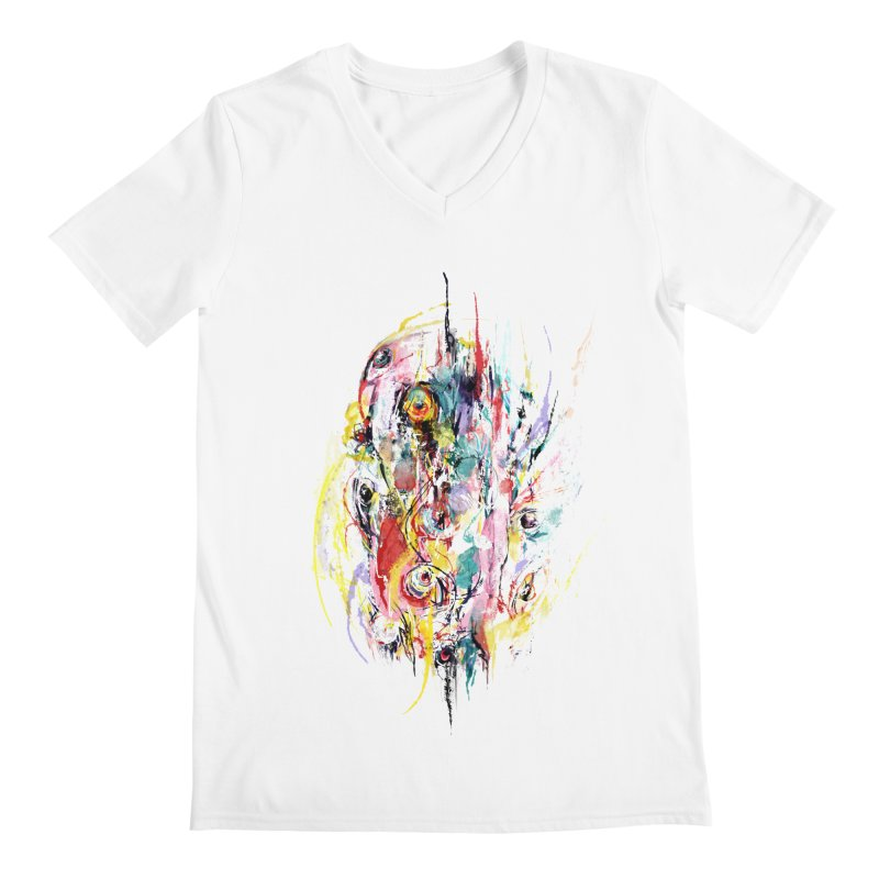 Abstract eyes Men's Regular V-Neck by sleepwalker's Artist Shop