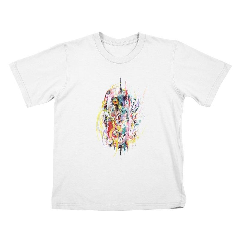 Abstract eyes Kids T-Shirt by sleepwalker's Artist Shop