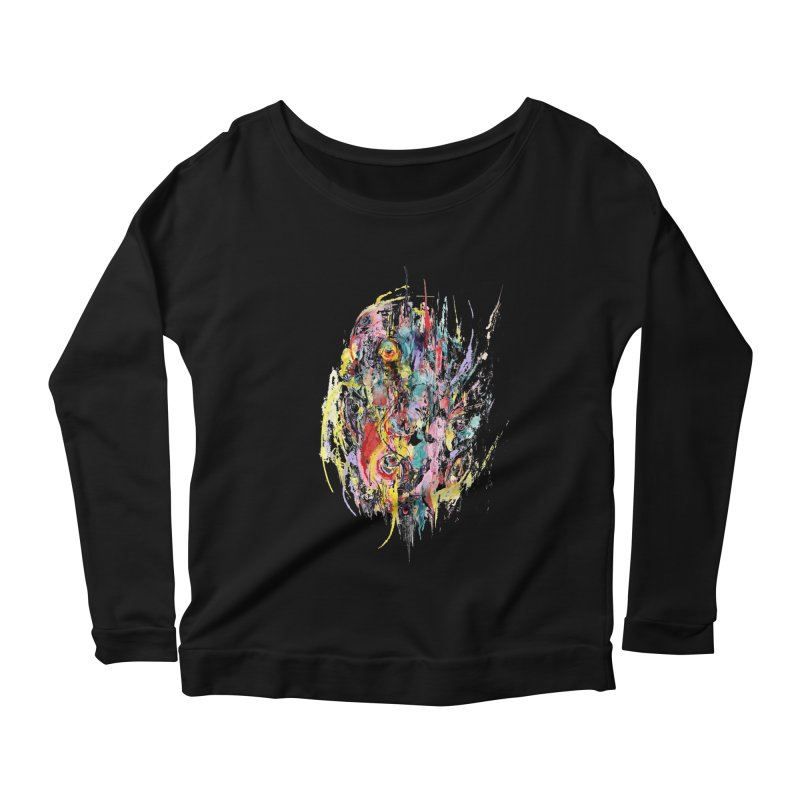 Abstract eyes Women's Scoop Neck Longsleeve T-Shirt by sleepwalker's Artist Shop