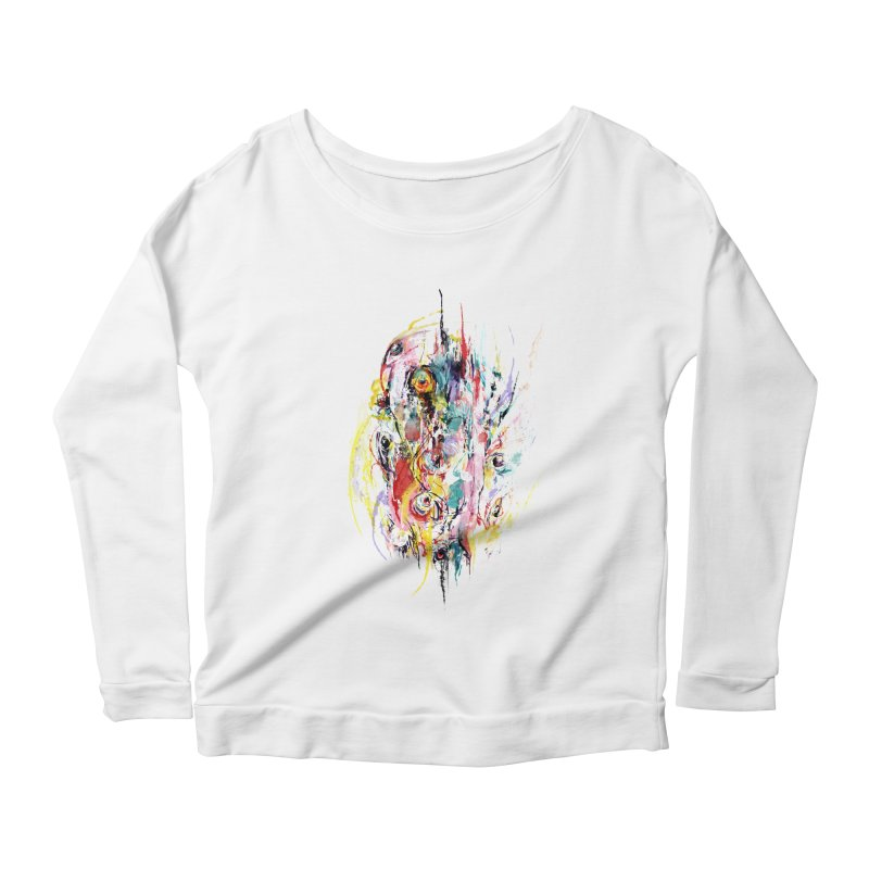 Abstract eyes Women's Scoop Neck Longsleeve T-Shirt by sleepwalker's Artist Shop