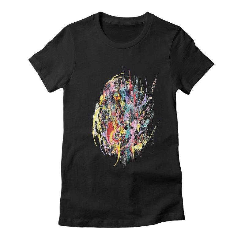 Abstract eyes Women's Fitted T-Shirt by sleepwalker's Artist Shop