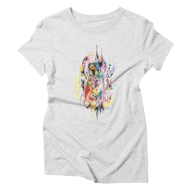 Abstract eyes Women's Triblend T-Shirt by sleepwalker's Artist Shop