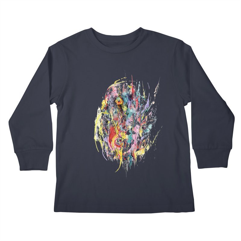 Abstract eyes Kids Longsleeve T-Shirt by sleepwalker's Artist Shop