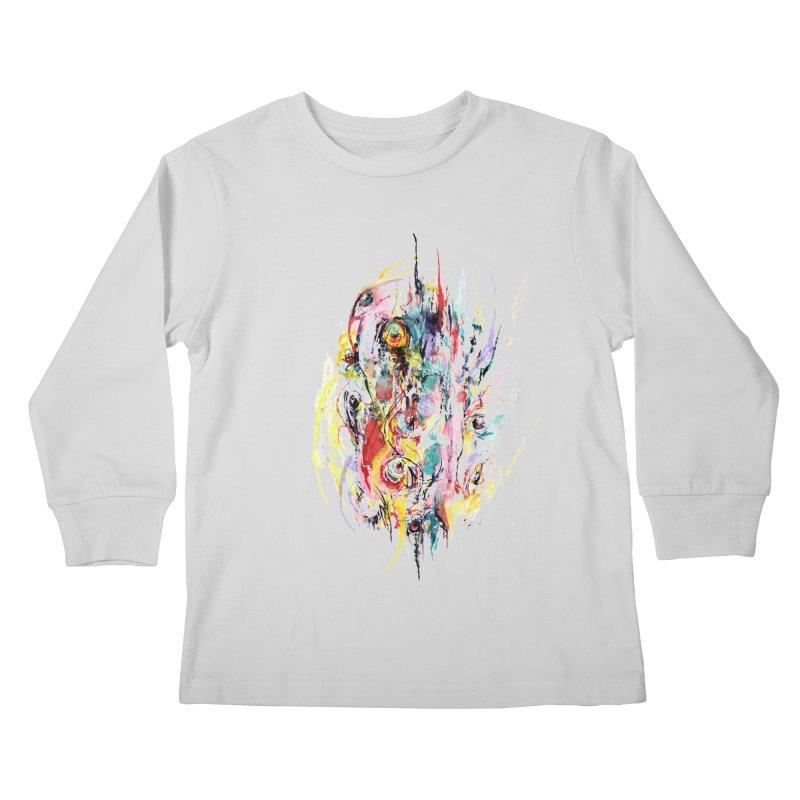 Abstract eyes Kids Longsleeve T-Shirt by sleepwalker's Artist Shop