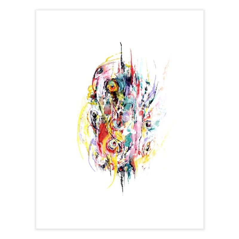 Abstract eyes Home Fine Art Print by sleepwalker's Artist Shop