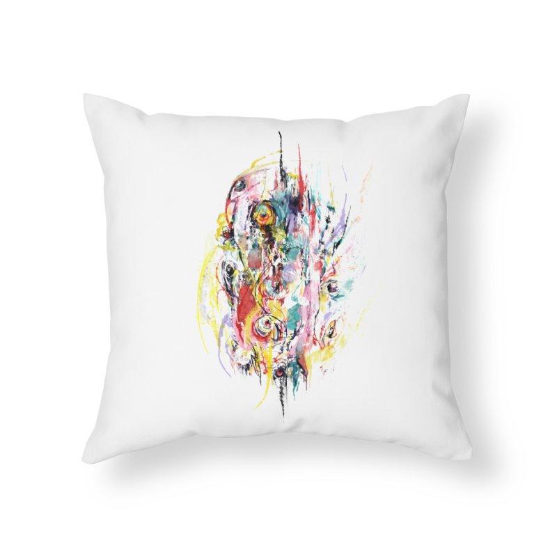 Abstract eyes Home Throw Pillow by sleepwalker's Artist Shop
