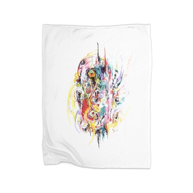 Abstract eyes Home Blanket by sleepwalker's Artist Shop