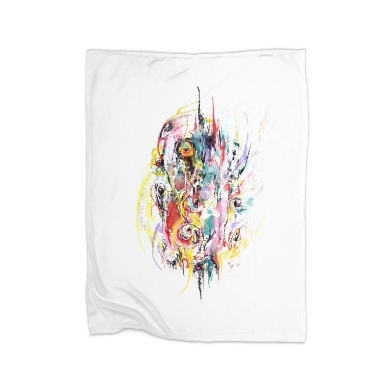 Abstract eyes Home Blanket by sleepwalker's Artist Shop