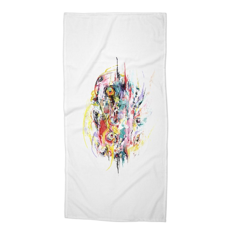 Abstract eyes Accessories Beach Towel by sleepwalker's Artist Shop