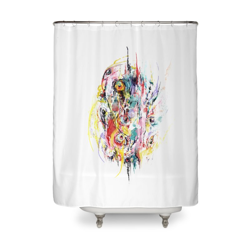 Abstract eyes Home Shower Curtain by sleepwalker's Artist Shop