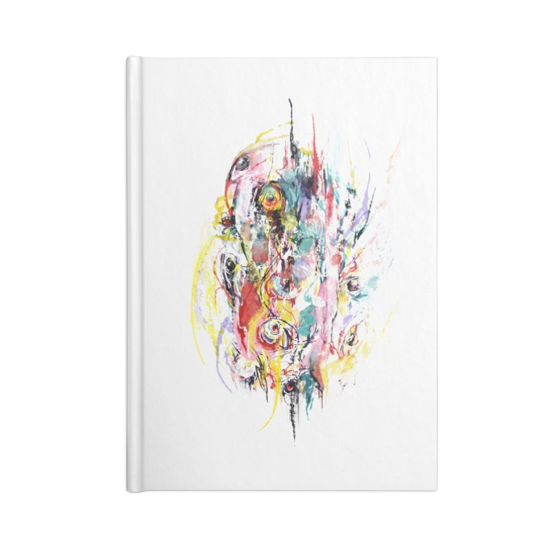 Abstract eyes Accessories Blank Journal Notebook by sleepwalker's Artist Shop