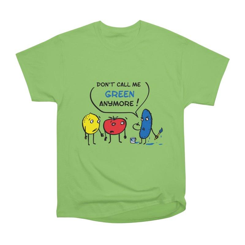 Mad cucumber became blue! Women's Heavyweight Unisex T-Shirt by sleepwalker's Artist Shop