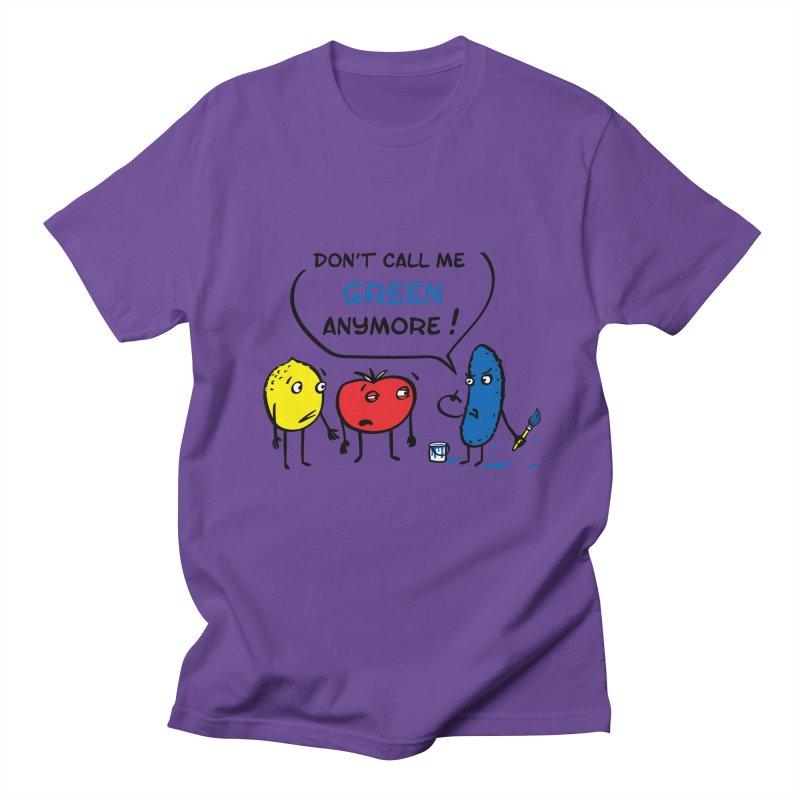 Mad cucumber became blue! Men's Regular T-Shirt by sleepwalker's Artist Shop
