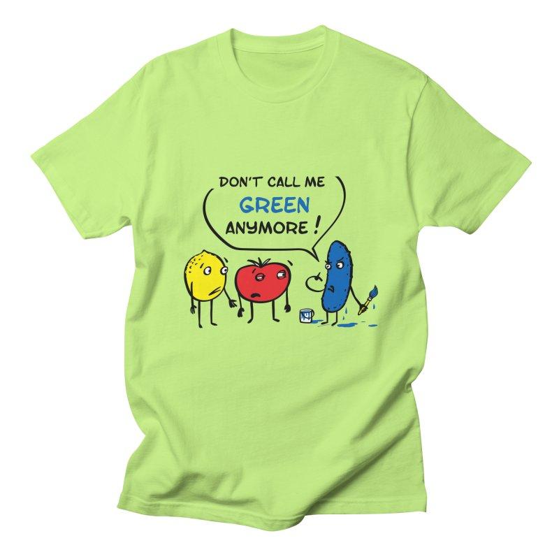 Mad cucumber became blue! Women's Regular Unisex T-Shirt by sleepwalker's Artist Shop