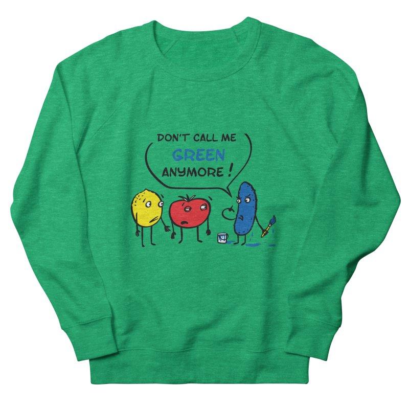 Mad cucumber became blue! Women's French Terry Sweatshirt by sleepwalker's Artist Shop