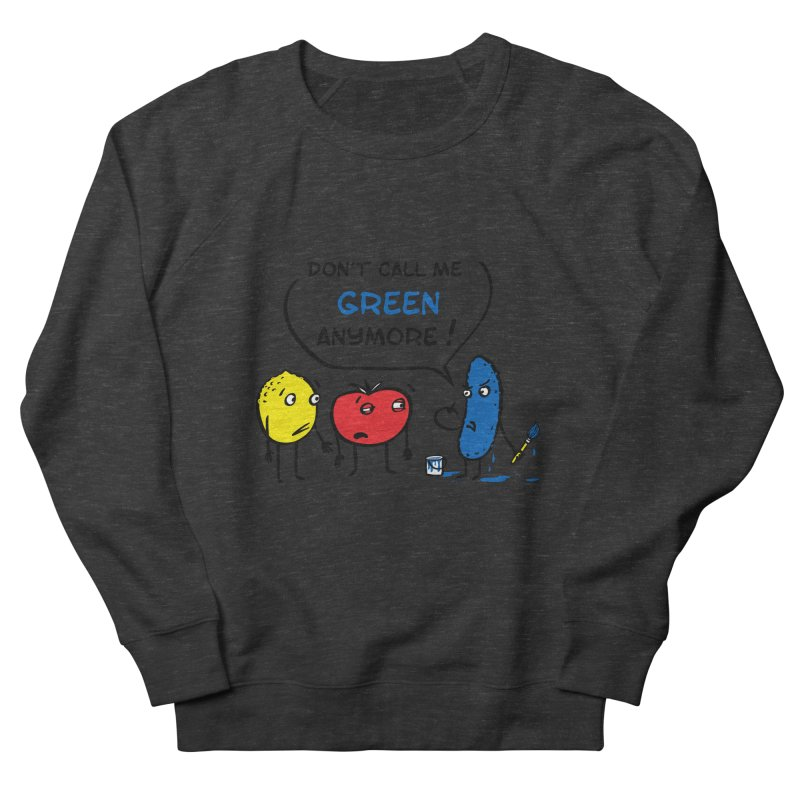 Mad cucumber became blue! Women's French Terry Sweatshirt by sleepwalker's Artist Shop