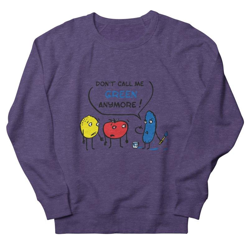 Mad cucumber became blue! Men's French Terry Sweatshirt by sleepwalker's Artist Shop