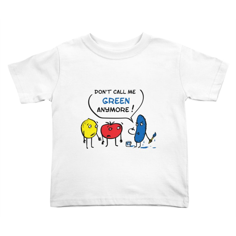Mad cucumber became blue! Kids Toddler T-Shirt by sleepwalker's Artist Shop