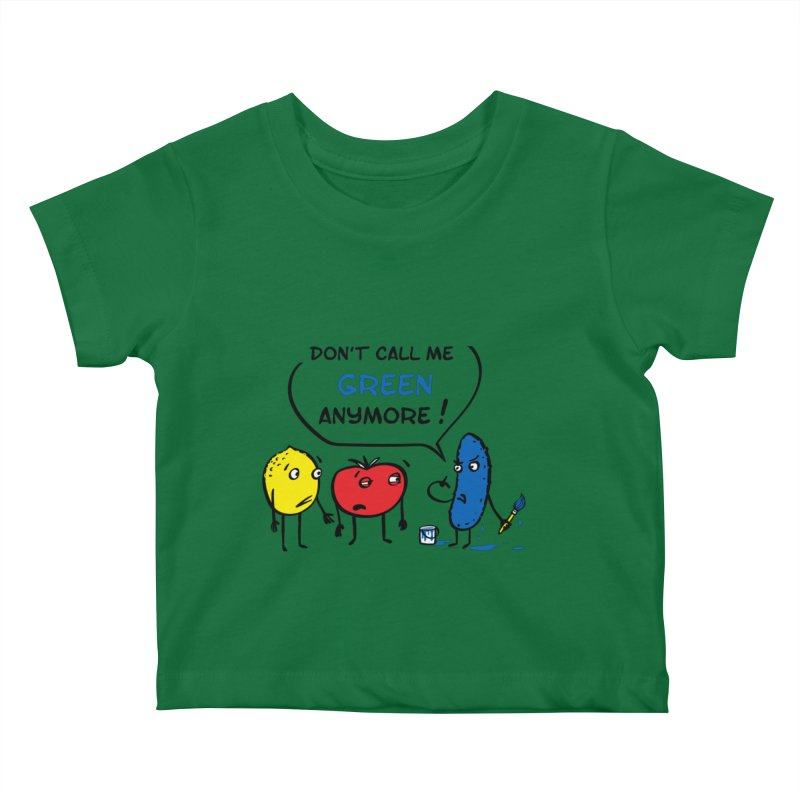 Mad cucumber became blue! Kids Baby T-Shirt by sleepwalker's Artist Shop
