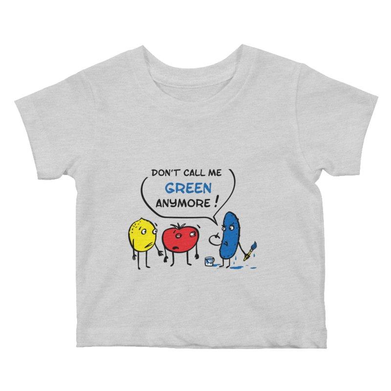 Mad cucumber became blue! Kids Baby T-Shirt by sleepwalker's Artist Shop