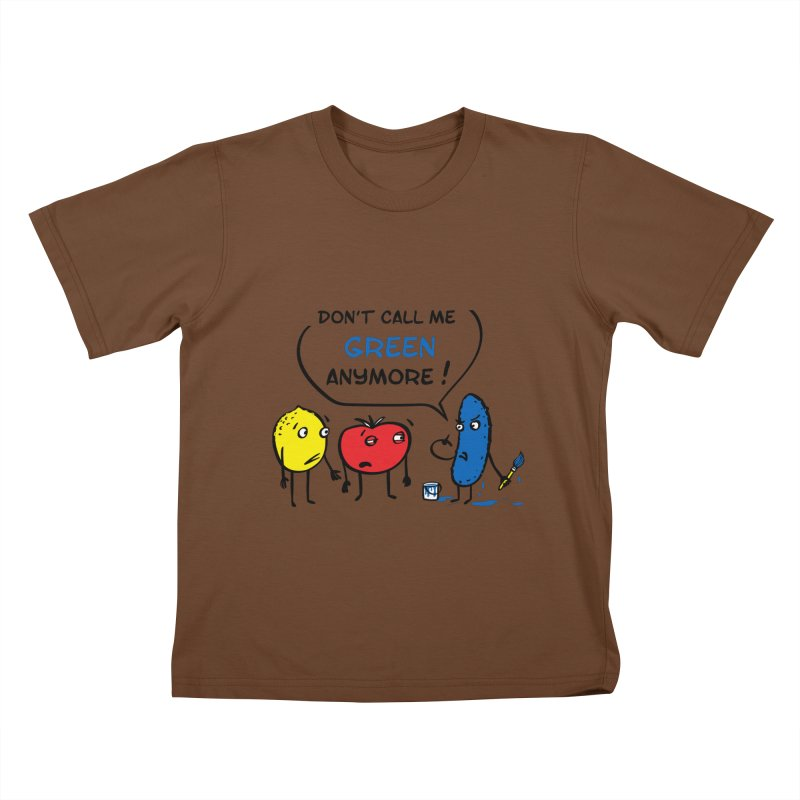 Mad cucumber became blue! Kids T-Shirt by sleepwalker's Artist Shop