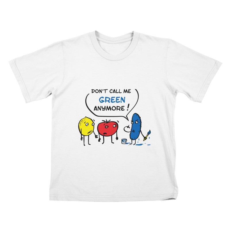 Mad cucumber became blue! Kids T-Shirt by sleepwalker's Artist Shop