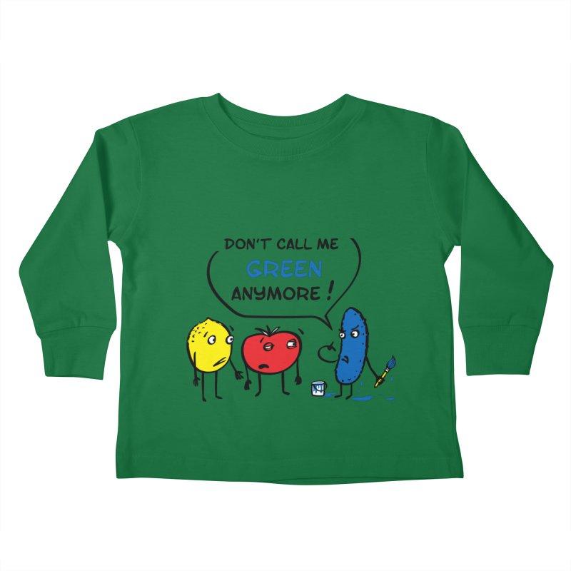 Mad cucumber became blue! Kids Toddler Longsleeve T-Shirt by sleepwalker's Artist Shop