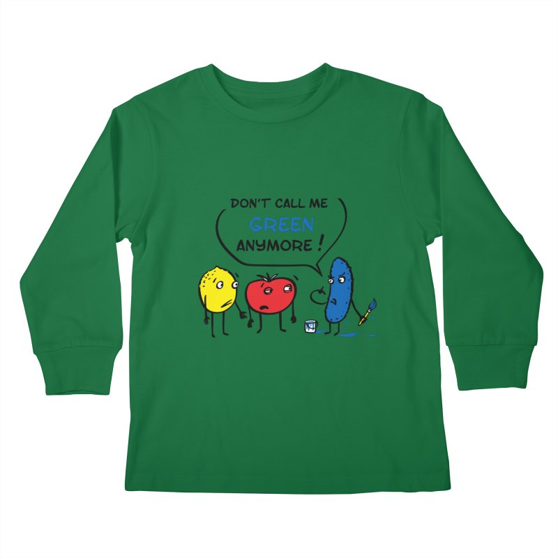 Mad cucumber became blue! Kids Longsleeve T-Shirt by sleepwalker's Artist Shop